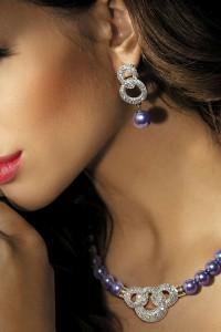Collier de perles avec strass