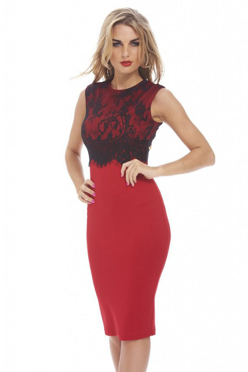 f0006603add Robe rouge noir robe or