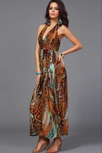 Robe multicolore longue
