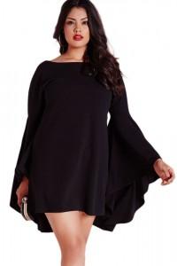 Robe noire drapée