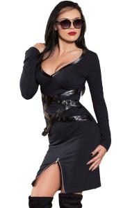 Robe noire manches longues