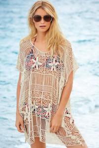Tunique de plage en crochet