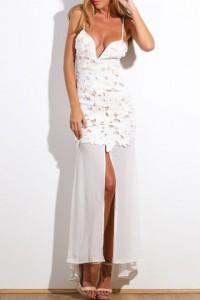 Robe blanche dentelle et voile