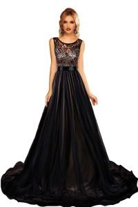 Robe majestueuse noire