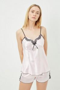 Pyjama satiné Rose pâle
