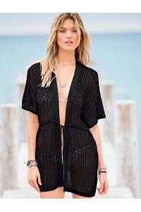 Robe de plage noire