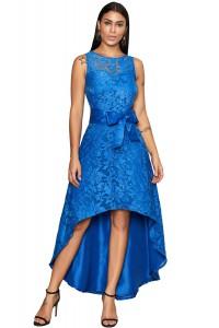 Robe asymétrique bleue
