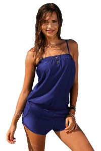 Combi-short bleue