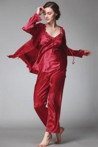 Pyjamas 3 pièces rouge