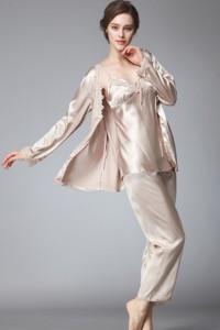 Pyjamas 3 pièces ivoire
