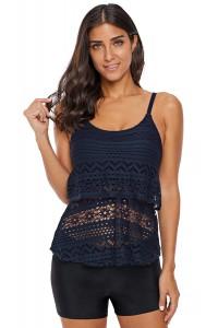 Tankini crochet bleu