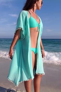 Kimono de plage bleu