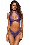 Body string ouvert violet
