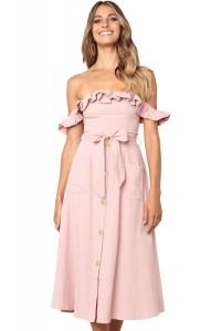 Robe d'été rose