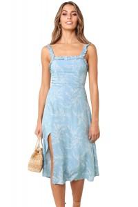 Robe d'été fleurie bleu