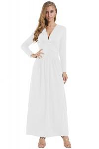 Robe blanche effet vintage
