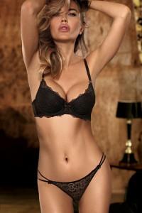 Ensemble lingerie dentelle luxe noir