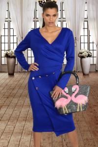Robe fourreau bleu