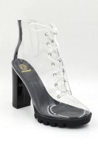 Boots transparente à talon