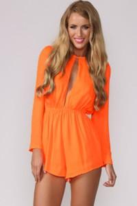 Combi-short orange