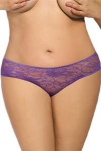 Culotte dentelle violette ouverte