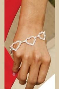 Bracelet coeurs strass