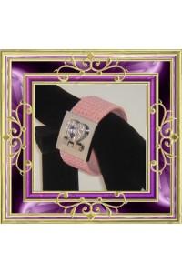 Bracelet strass rose