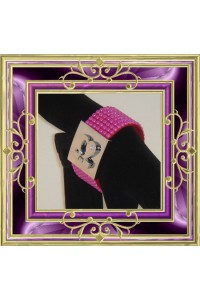 Bracelet perle fushia