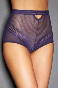 Culotte haute montante dentelle, violette
