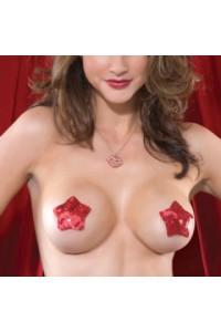 Cache tétons rouges en forme d'étoile