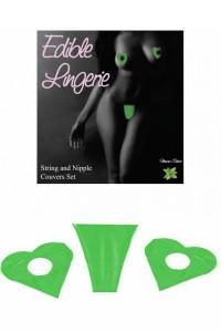 Ensemble lingerie comestible à la menthe