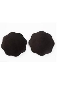 Caches tétons fleurs noirs