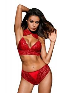 Ensemble lingerie rouge
