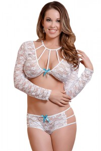 Ensemble lingerie blanc