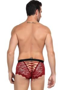 Boxer rouge en dentelle homme