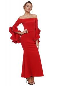 Robe effet flamenco rouge