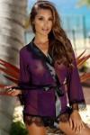 Déshabillé court violet
