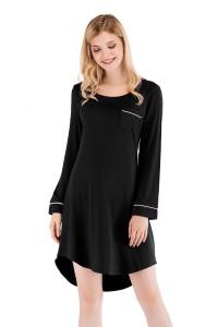 Chemise de nuit noire