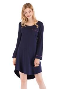 Chemise de nuit bleu marine