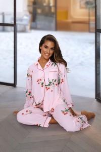 Pyjama rose à motifs