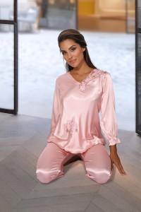 Pyjama satiné rose