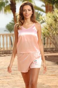 Pyjashort caraco rose