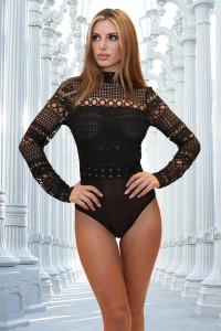 Body crochet noir