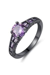 Bague Cristal Violette