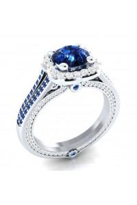 Bague Madame Luxe bleu