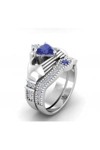 Bague de Luxe Coeur bleu