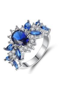 Bague Autrichienne Bleu