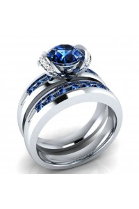 Bague Bloom Bleu