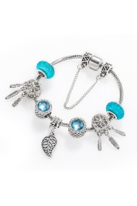 Bracelet Plume Bleu ciel