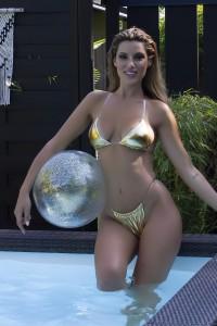 Bikini Or avec liens transparents